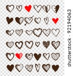 Set Of Valentine Hearts For...