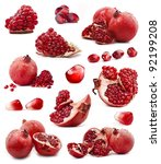collection of red pomegranate... | Shutterstock . vector #92199208