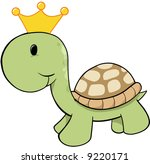 king turtle vector illustration | Shutterstock .eps vector #9220171