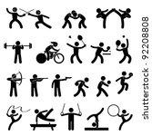indoor sport game athletic set...   Shutterstock .eps vector #92208808