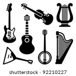 icons of string musical... | Shutterstock .eps vector #92210227