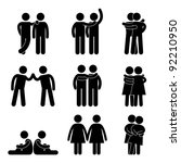 relationship icon symbol sign... | Shutterstock .eps vector #92210950