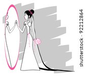 wedding illustration with a... | Shutterstock .eps vector #92212864
