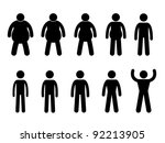 fat to thin process and thin to ... | Shutterstock .eps vector #92213905