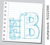 building letter b   Shutterstock .eps vector #92222500