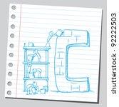building letter c   Shutterstock .eps vector #92222503