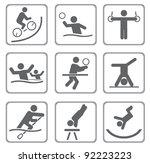 set of sport icons. vector... | Shutterstock .eps vector #92223223