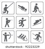 set of sport icons. vector... | Shutterstock .eps vector #92223229