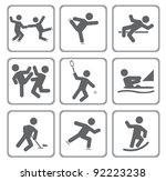 set of sport icons. vector... | Shutterstock .eps vector #92223238
