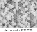 3d Background With Hexagons