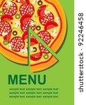 pizza menu template  raster... | Shutterstock . vector #92246458
