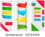 huge set of colorful origami... | Shutterstock .eps vector #92251456