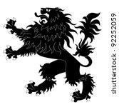 black heraldic lion | Shutterstock .eps vector #92252059