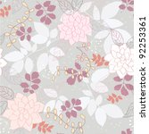 seamless grey floral background | Shutterstock .eps vector #92253361