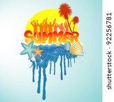 tropical summer banner | Shutterstock .eps vector #92256781