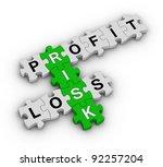 risk management jigsaw puzzle - stock photo