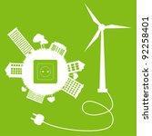 green ecology energy planet... | Shutterstock .eps vector #92258401
