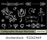 calligraphic decorative... | Shutterstock .eps vector #92262469