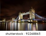 The Tower Bridge  In London...