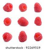 fresh ripe red raspberries on... | Shutterstock . vector #92269519