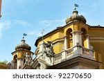 Domes of churches, Rome, Italy - stock photo