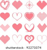 different types of hearts | Shutterstock .eps vector #92273374