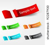 vector tag label. | Shutterstock .eps vector #92287930