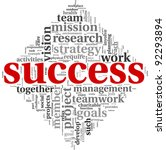 success concept related words... | Shutterstock . vector #92293894