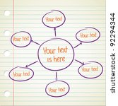 blank hierarchy diagram | Shutterstock .eps vector #92294344