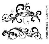 floral design elements | Shutterstock .eps vector #92294974
