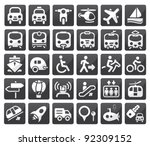 set of vector transport icon
