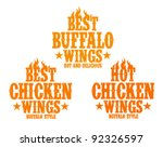 Best Hot Chicken Wings Signs.