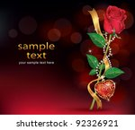 Beautiful Roses With Ribbon An...