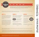 retro vintage grunge web page...   Shutterstock .eps vector #92344861