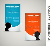 vector set of modern business... | Shutterstock .eps vector #92344909
