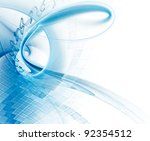 abstract blue and white... | Shutterstock . vector #92354512