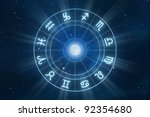 zodiac signs horoscope with... | Shutterstock . vector #92354680