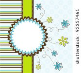 template greeting card  vector... | Shutterstock .eps vector #92357461
