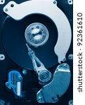 close up of hard disk - stock photo
