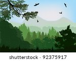 Illustration With Forest Near...