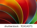 Macro Image Of Colorful Curved...