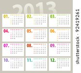 Minimalistic 2013 Calendar...