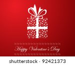 valentine's day illustration | Shutterstock .eps vector #92421373