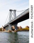 steel bridge in the city of new ... | Shutterstock . vector #92425489