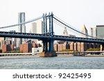 steel bridge in the city of new ... | Shutterstock . vector #92425495