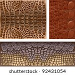 Texture of crocodile skin - stock vector