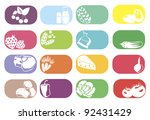 colorful vector icons set with... | Shutterstock .eps vector #92431429