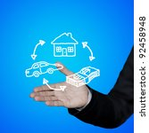 exchange traded dream home. | Shutterstock . vector #92458948