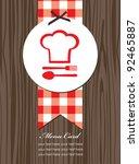 cute menu card. vector...   Shutterstock .eps vector #92465887