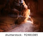 Slot Canyon Hallway - stock photo